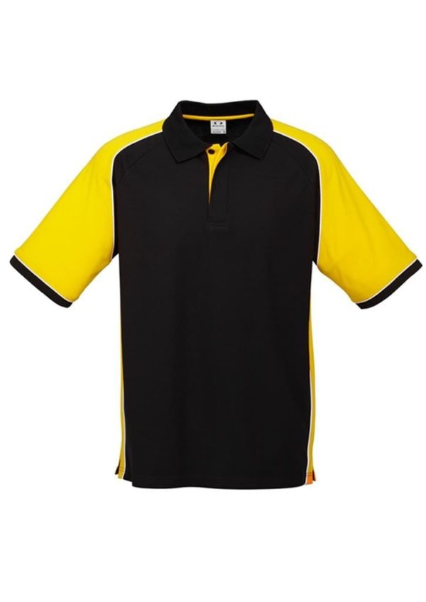 Nitro Uinisex Polo Black/Yellow/White