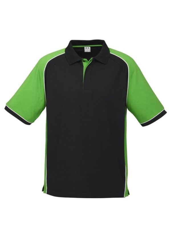 Nitro Uinisex Polo Black/Green/White