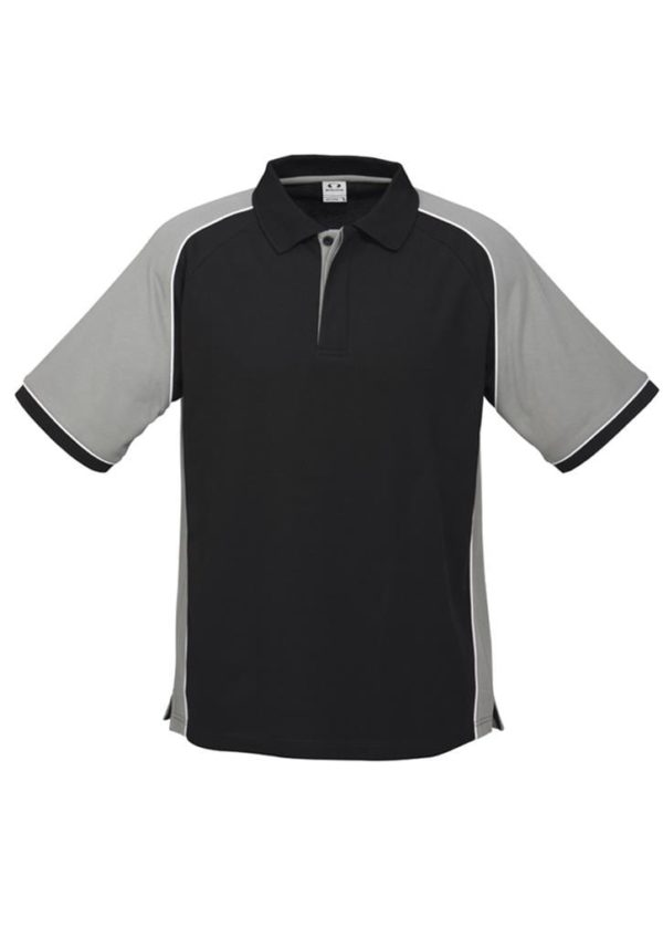 Nitro Uinisex Polo Black/Grey/White