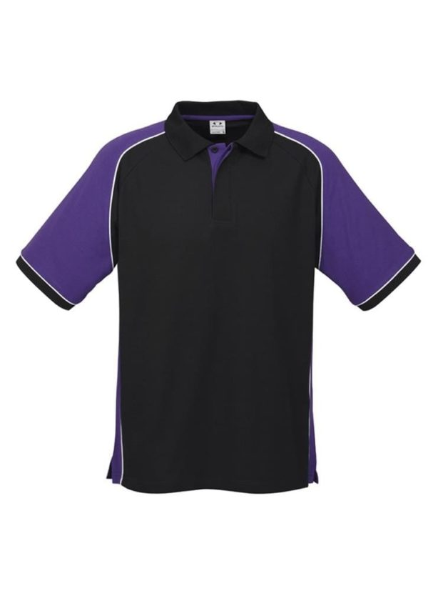 Nitro Uinisex Polo Black/Purple/White