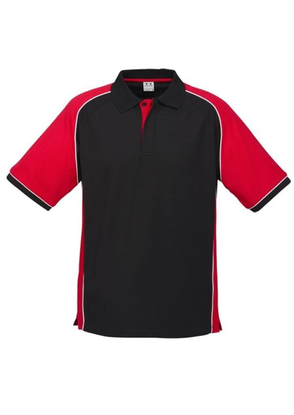 Nitro Uinisex Polo Black/Red/White