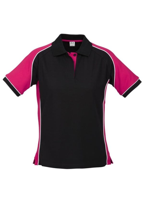 Nitro Ladies Polo Black/Magenta/White