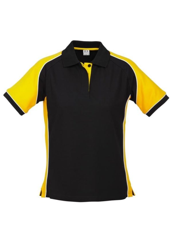 Nitro Ladies Polo Black/Yellow/White