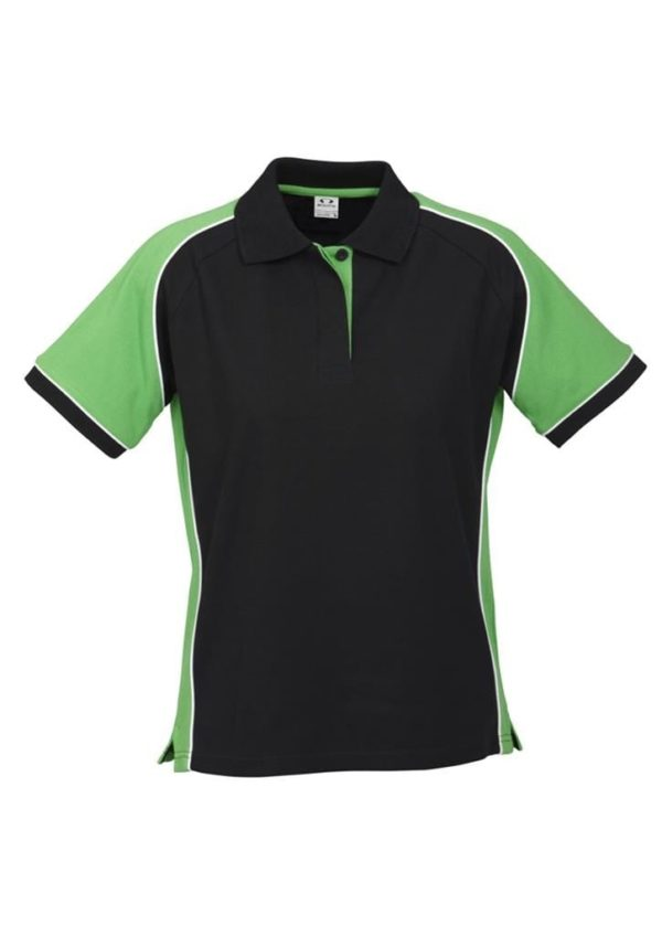 Nitro Ladies Polo Black/Green/White