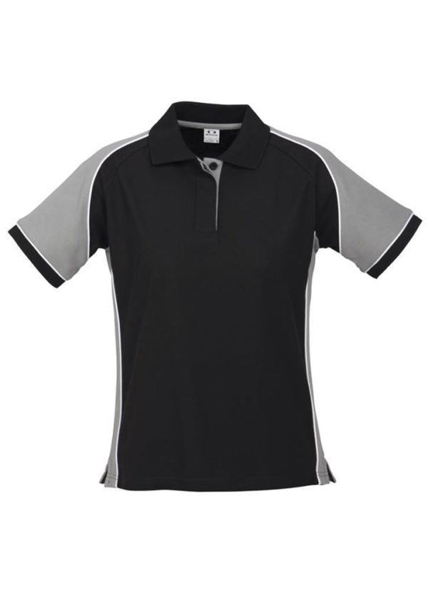 Nitro Ladies Polo Black/Grey/White