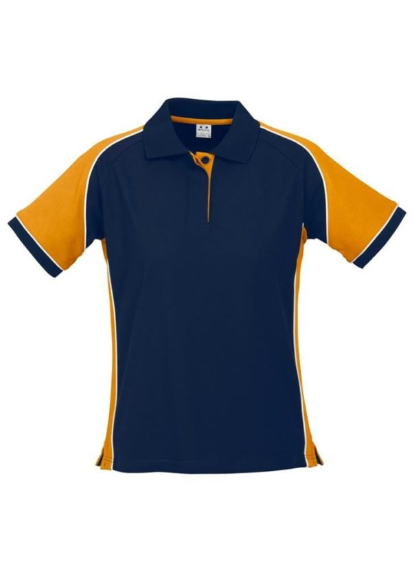 Nitro Ladies Polo Navy/Gold/White