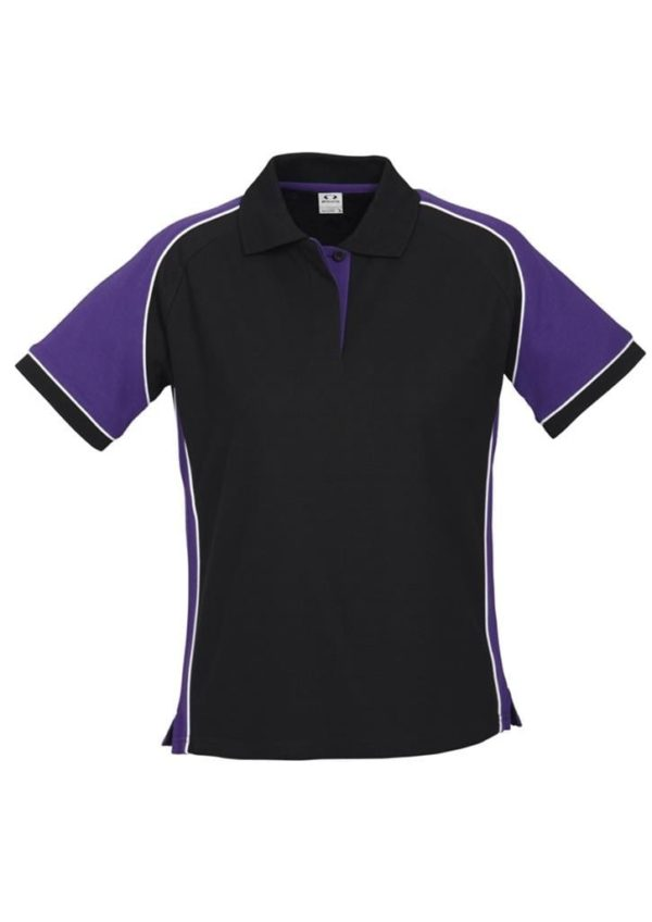 Nitro Ladies Polo Black/Purple/White