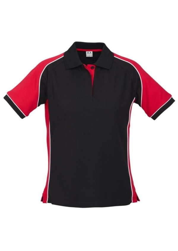 Nitro Ladies Polo Black/Red/White