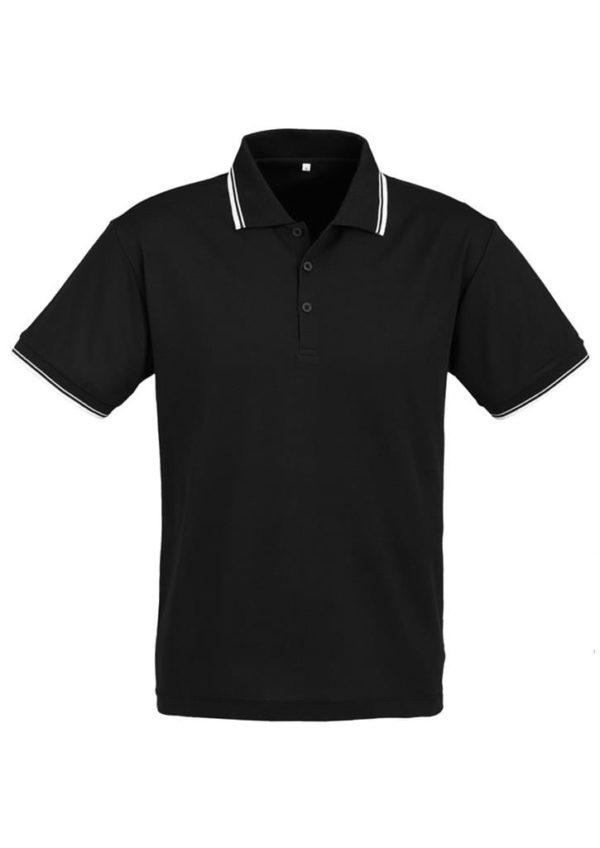 Cambridge Unisex Polo Black/White/White