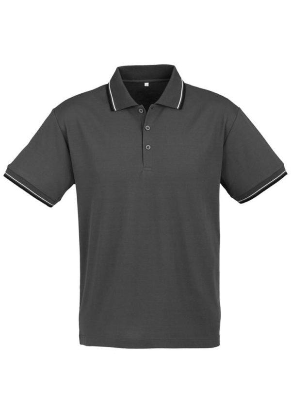 Cambridge Unisex Polo Steel Grey/Black/White