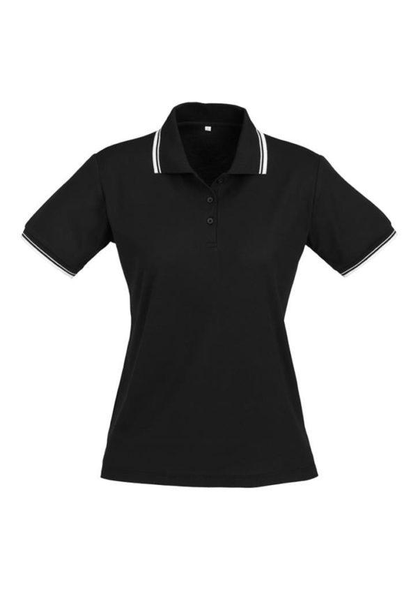 Cambridge Ladies Polo Black/White/White