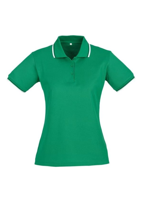 Cambridge Ladies Polo Emerald/White/Black