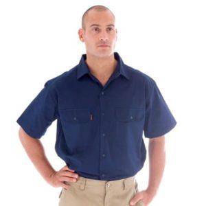 Mens Drill Shirt Navy
