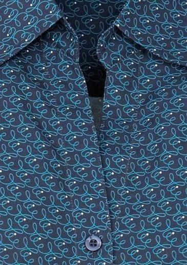 Ladies Printed Oasis Shirt Navy