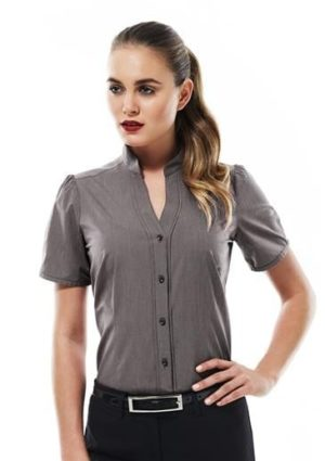 Chevron Ladies stand up collar Worn