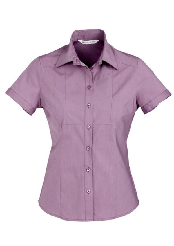 Cheron Ladies Short Sleeve Shirt Blue