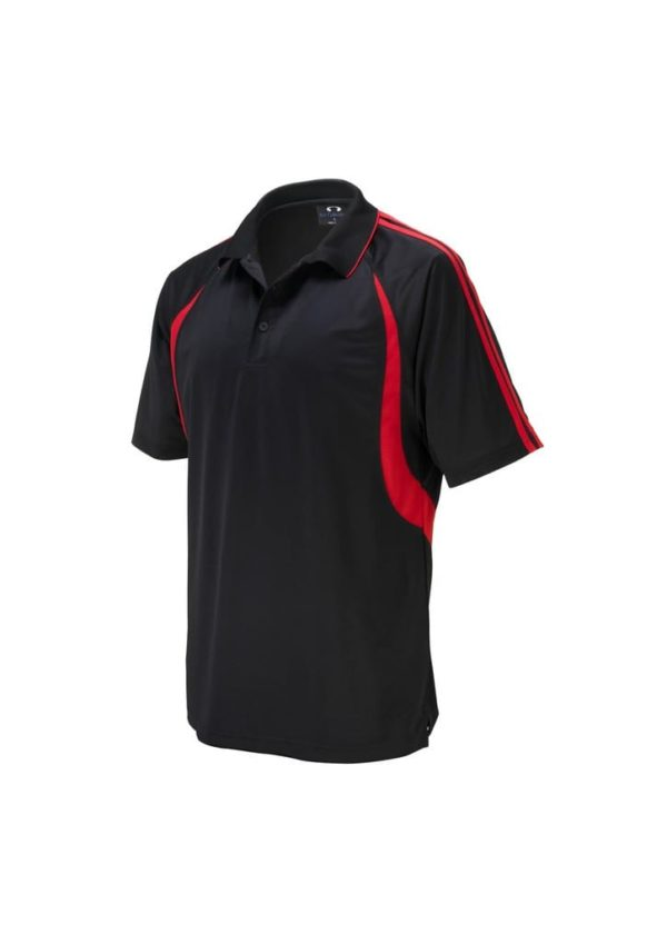 Flash Unisex Polo Black/Red