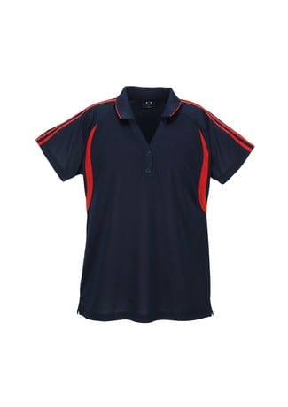 Flash Ladies Polo Navy/Red