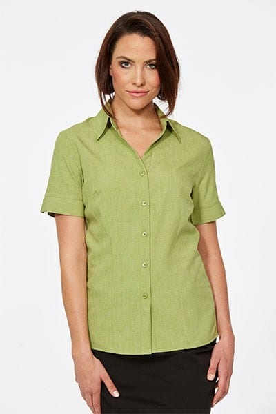 Short Sleeve Ezyline Action Back Shirt Avocado