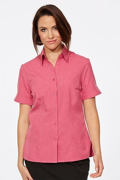 Short Sleeve Ezyline Action Back Shirt Pink