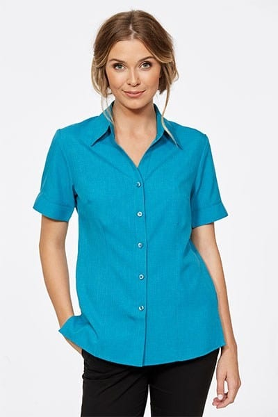 Short Sleeve Ezyline Action Back Shirt Teal
