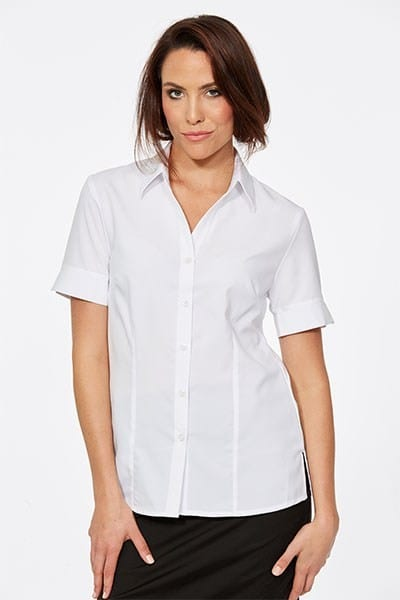 Short Sleeve Ezyline Action Back Shirt White