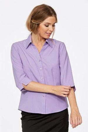 3/4 Sleeve Ezyline Action Back Shirt Lavender