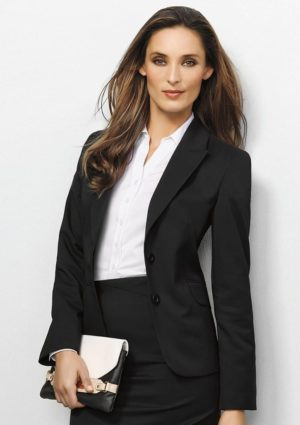 Ladies Plain Cool Stretch Blazer