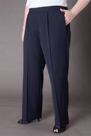 Easy fit pull on elastic waist pant