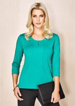 Advatex Abby Ladies 3/4 Sleeve Knit Top Worn