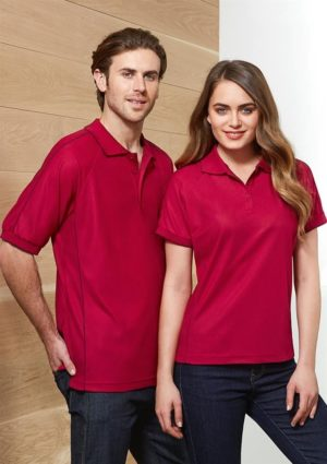 Unisex Resort Polo Cherry