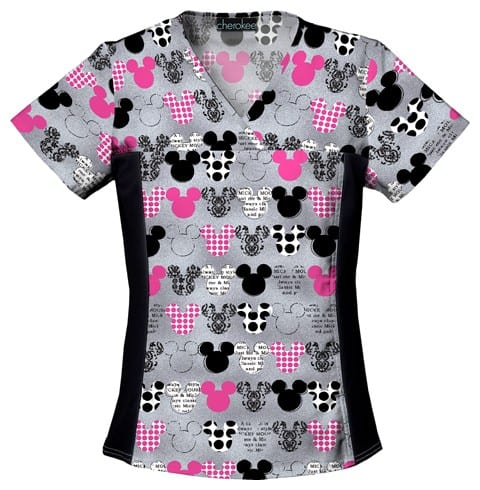 Mickey Mouse V-Neck scrub Top