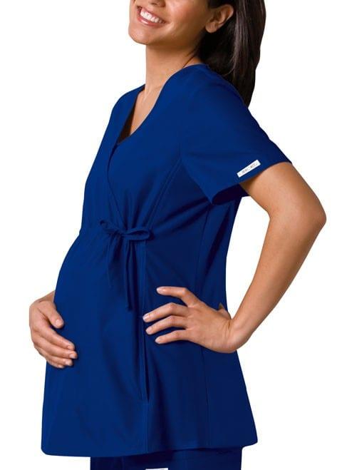 Maternity Scrub Top Galaxy Blue
