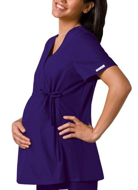 Maternity Scrub Top Grape