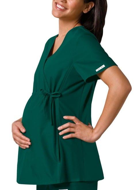 Maternity Scrub Top Hunter Green