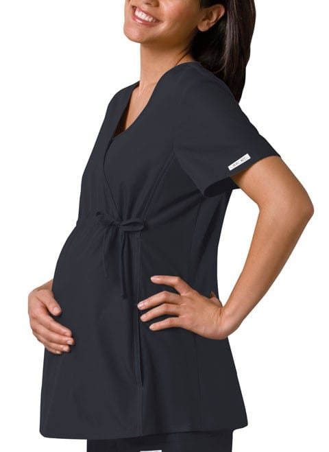Maternity Scrub Top Pewter