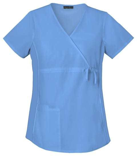 Maternity Scrub Top Front View