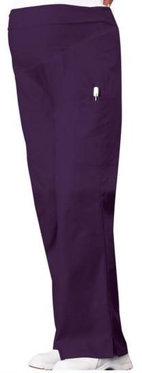 Maternity Scrub Pants eggplant