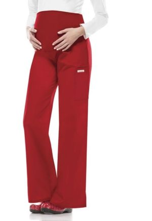 Maternity Scrub Pants Red