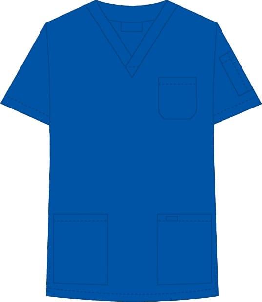 V-Neck Unisex Scrub Top Royal Blue