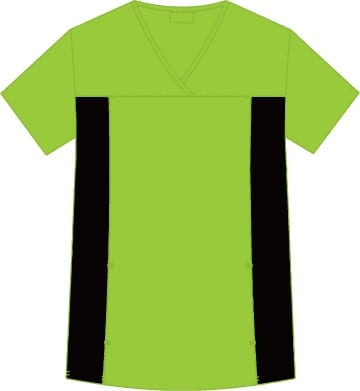 Flexi V-Neck Scrub Top Lime Green