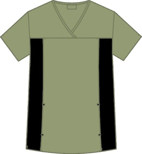 Flexi V-Neck Scrub Top Olive Green