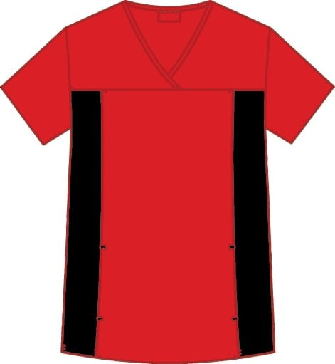 Flexi V-Neck Scrub Top Red
