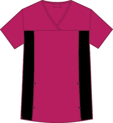 Flexi V-Neck Scrub Top Raspberry