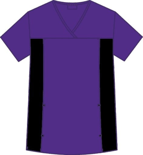 Flexi V-Neck Scrub Top Eggplant