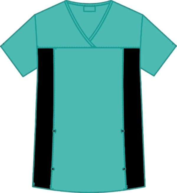 Flexi V-Neck Scrub Top Sea Green