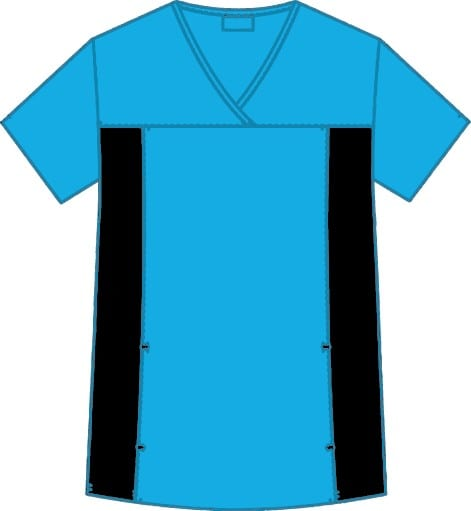 Flexi V-Neck Scrub Top Aqua