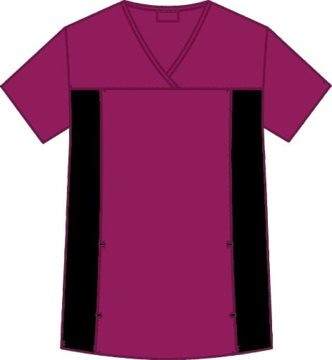 Flexi V-Neck Scrub Top Deep Orchid