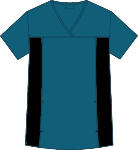 Flexi V-Neck Scrub Top Caribbean