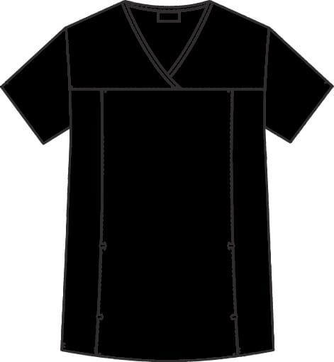 Flexi V-Neck Scrub Top Black